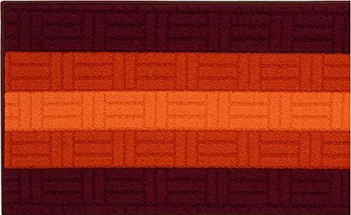 Arancio, 50x80 cm Tappeto Bagno Cucina CORRIDOIO Mosaico 3D