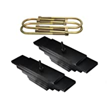 """Supreme Suspensions - F-Series Super Duty Lift Kit 3"""" Front Suspension Lift Carbon Steel Spring Leaf Pack (Black) Easy Install Ford Super Duty Leveling Kit 4WD 4x4 PRO"""