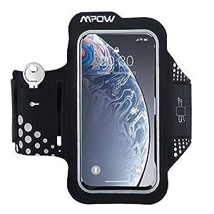 Mpow-Brazalete-Movil-53-Pulgadas-para-CorrerBrazalete-Deportivo-contra-Sudor-con-Soporte-para-Llaves-Cables-y-Tarjetas-para-iPhone-XS-76-6s55C5E-Samsung-Huawei-Bq-x5-HTC-LG-etc es