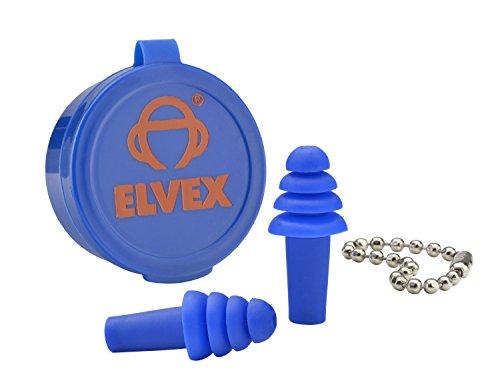 (Elvex EP-402 - Quattro Ear Plug w/case and Chain)