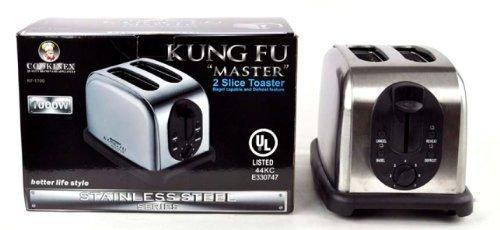 UPC 812688015203, Cookinex Kung Fu Master, Stainless Steel Body, 2 Slice Toaster