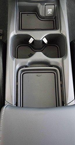 custom fit cup door console liner accessories    honda cr  crv solid black