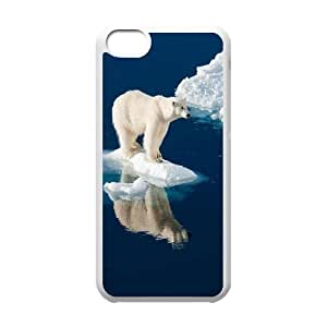 Polar Bears Custom Case for Iphone 5C, Personalized Polar Bears Case wangjiang maoyi
