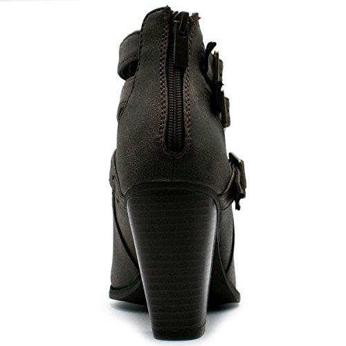 Per Sempre Cinturino Alla Caviglia Con Fibbia, Stivaletti Alla Caviglia E Tallone