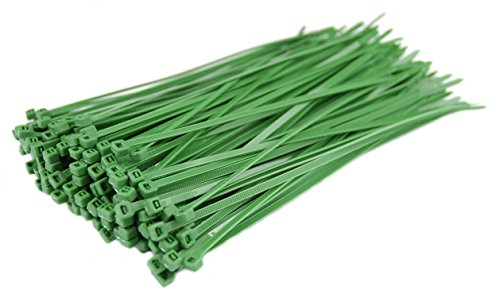 Pro Tie GR8LD1000 8'' Nylon Light Duty Cable Tie with 40 lb Tensile Strength (1000 Pack), Green by Pro Tie