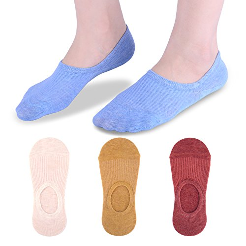 No Show Socks Women, Low Cut Liner Socks for Flats, Cotton, US Size 6-10, 4/5 pairs (Clasiic color2(4 pairs), 5-10 US)