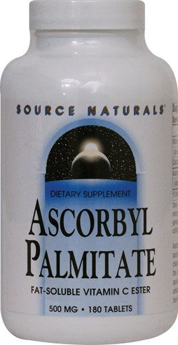 Source Naturals Ascorbyl Palmitate -- 500 mg - 180 Tablets - 3PC