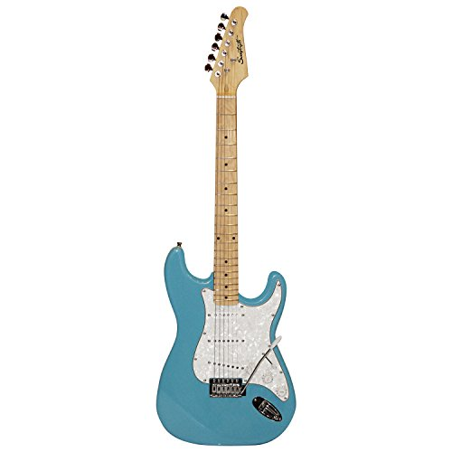 Sawtooth ST-ES60-BLCP Classic ES 60 Alder Body Electric Guitar - Classic Aero Blue with Pearl White Aged White Pickguard