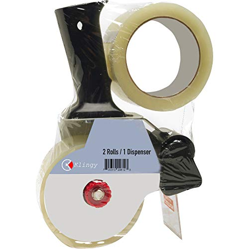 - Packing Tape Gun with 2 Free Rolls of Packaging Tape 2 Inch Wide 55 Yard Long, Easy to Tape Boxes, Seal Cartons, Easy Side Loading, Excellent Tape Dispenser for Shipping, Packaging and Moving
