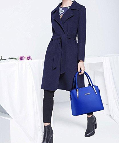 Bags Tote Blue Hobo Sky Elegant Bags Handbags Set ADOO Women's Leather Shoulder XqC1XW