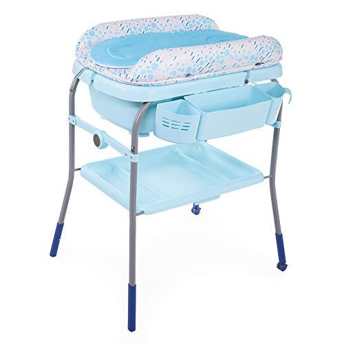 Chicco Cuddle&Bubble – Bañera y cambiador 2 en 1, plegable y compacta, peso 10 kg, color azul (Ocean)