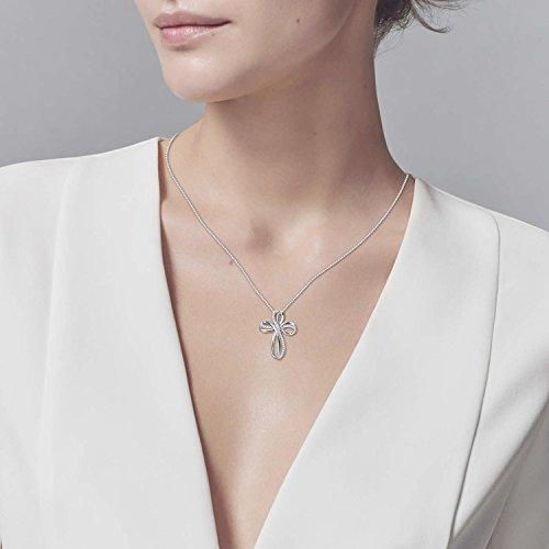 POPLYKE Cross Necklace Sterling Silver Infinity Loop Cross Pendant Necklace Jewelry for Women Men Girls Boys by POPLYKE (Image #2)