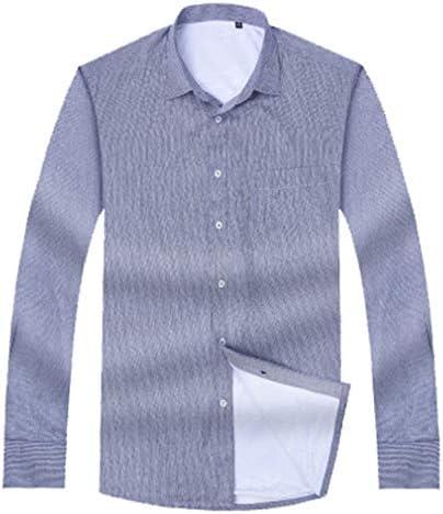 Camisa para Hombre Camisas de Franela, además de Terciopelo botón Raya Gruesa Solapa de la Manga Larga Slim-Fit Plus Gran Tamaño (L-8XL), Azul, 2XL: Amazon.es: Ropa y accesorios
