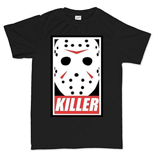 Mens Jason Voorhees Killer Halloween T Shirt L Black (Jason Voorhees Clothes)