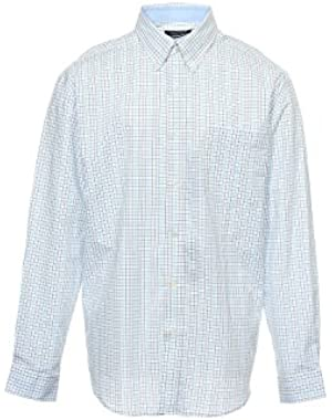 Men's Blue Checked Button Down Shirt