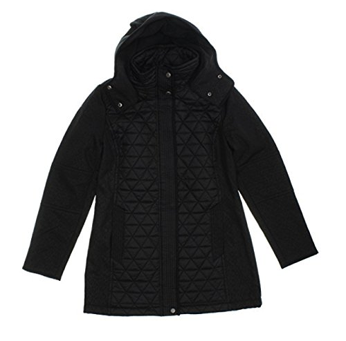 hooded quilted jacket - 1