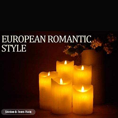LED Simulation Candle Light, The Shell is Made of Paraffin, More Real. Flameless Candle, Flameless Candles,Include Realistic Dancing LED Flames. (6 Packs, Champagne)