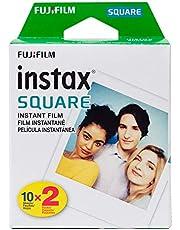Fujifilm Instax Square Twin Pack Film - 20 Exposures, White