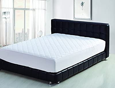 BeautySleep Mattress Pad Size Hypoallergenic - Antibacterial, Breathable - Ultra Soft Quilted Mattress Protector, Fitted Sheet Mattress Cover White