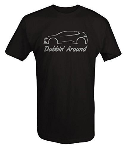 Here Golf Shirt (Stealth - VW - Dubbin' Around - Turbo Golf Rabbit GTI R32 AWD T Shirt - Xlarge)
