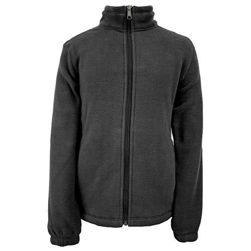 - White Sierra Girl's Sierra Mountain Fleece Jacket (Black, Medium)