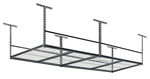 Muscle Rack LR4896-SV 96''W x 48''D Overhead Garage Adjustable Ceiling Storage Rack , 42'' Height, 96'' width by Muscle Rack