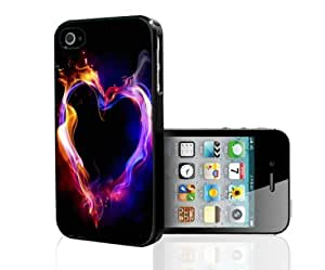 Cool Paint Splash Heart Hard Snap on Phone Case (iPhone 4/4s)