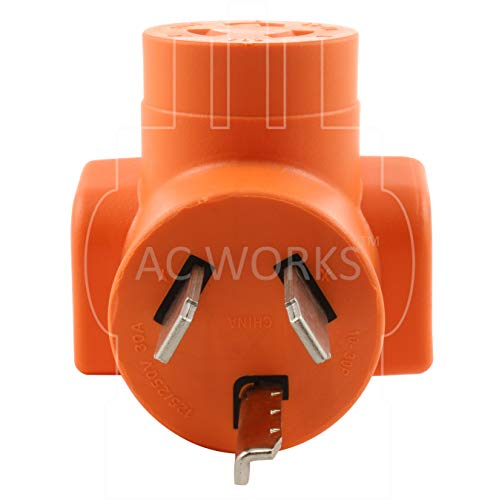 AC WORKS [AD1030L620] 3-Prong Dryer Oulet to L6-20 20Amp 250Volt Locking Female Adapter by AC WORKS (Image #2)