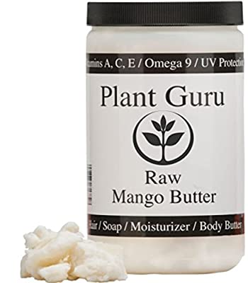 Premium Raw Mango Butter 100% Pure 1 Pound (HDPE Food Grade Jar) from Plant Guru