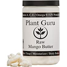 Premium Raw Mango Butter 100% Pure 1 Pound (HDPE Food Grade Jar)