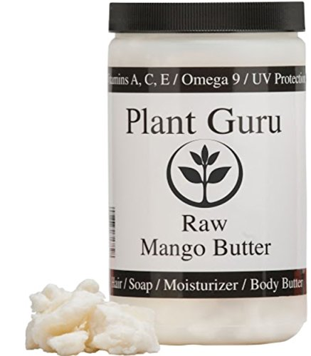 (Raw Mango Butter 16 oz / 1 lb 100% Pure Natural For Skin, Face, Hair Care (HDPE Food Grade Jar))