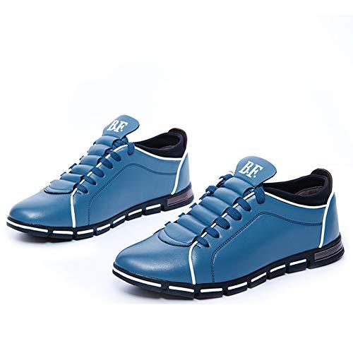 Blu 38 Skateboard Marrone Blu Sportive Uomo Nero Derby Ginnastica Scarpe Casual Business Oxford Stringate Sneakers Scarpe Pelle 48 da Basse Corsa RqvUvFw