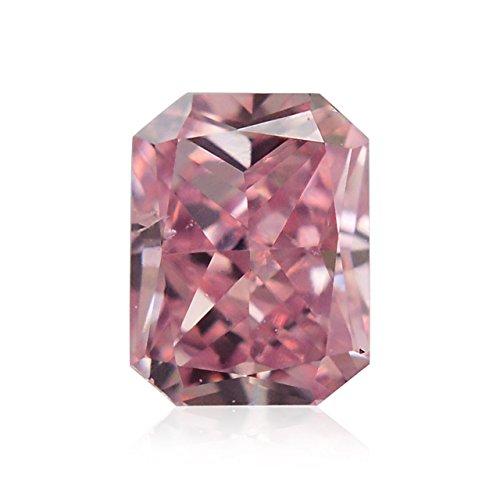 Diamond Radiant Loose Diamonds (0.12Cts Fancy Intense Purplish Pink Loose Diamond Natural Color Radiant Cut)