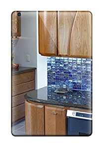 Daniel Lee Scratch-free Phone Case For Ipad Mini/mini 2- Retail Packaging - Contemporary Kitchen With Blue Glass Tile Backsplash