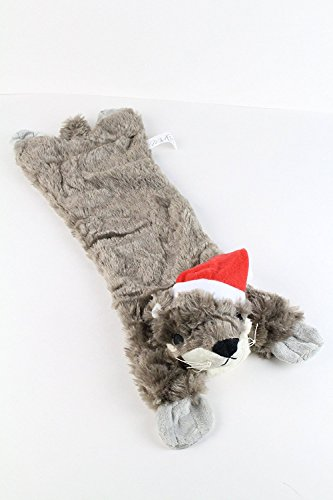 Midlee Otter Stuffingless Dog Toy Santa Hat by Review