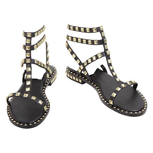 Nuevos estilos Compre en línea barato Damas De Ceniza Poison01 Sandalias De Cuero Negro dEZw5