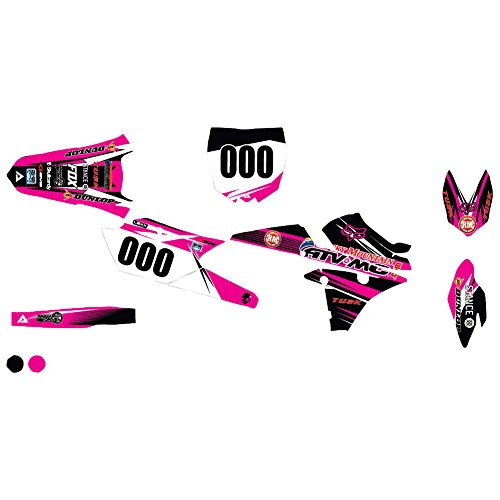 Attack Graphics Custom Blitz Complete Bike Graphics Kit Black/Pink - Fits: Yamaha YZ85 2002-2019