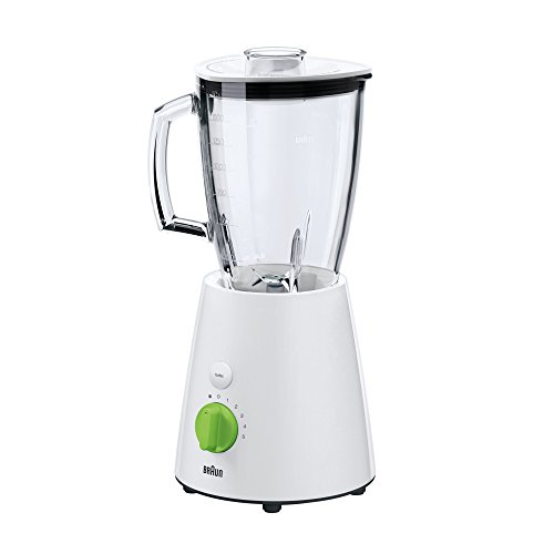 Braun JB 3060 Tabletop blender 1.75L 800W Verde, Color blanco - Licuadora (1.75 L, Batidora de vaso, Verde, Blanco, Vidrio,...