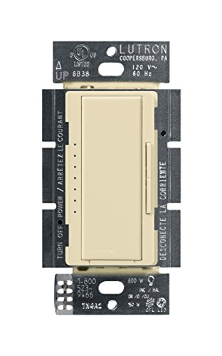 (Lutron Maestro C.L Dimmer Switch for Dimmable LED, Halogen and Incandescent Bulbs, Single-Pole or Multi-Location, MACL-153M-IV,)