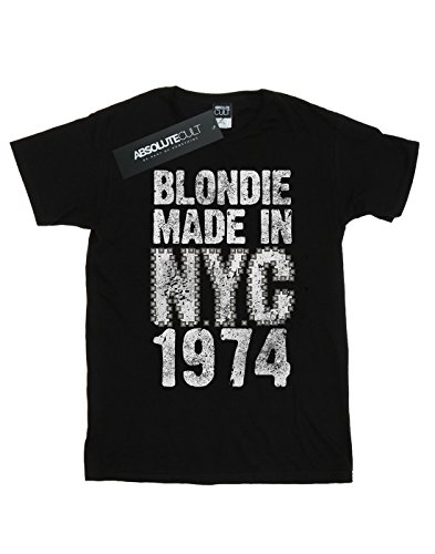Blondie Fit Camiseta Nyc Punk Cult Mujer Novio Del Absolute Negro q5B8Own5T