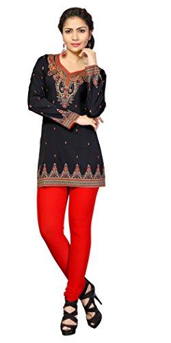 T209XXXL Indian Tunic Top Womens Kurti Printed Blouse India Clothing T 209 3X