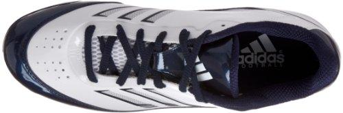 adidas Herren Scorch X Low D Fußballschuh Weiß / Collegiate Marine / Weiß