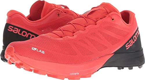 Salomon Unisex S/LAB Sense 7 SG Trail Running Shoe, Racing Red/Black/White, (Unisex Racing Shoes)