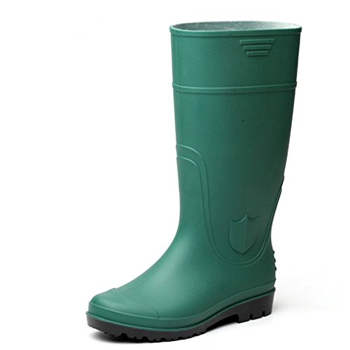 Unisex PVC Waterproof Rain Boots Joker Cosplay Shoes Halloween Costumes (8 (unisex) US, Green-2)