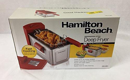 Hamilton Beach Professional Style Deep Fryer, Red
