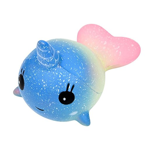 Naisidier 2018 Newest Slow Rising Squishies Jumbo, Galaxy Whale Scented Squishy Charm Slow Rising Simulation Kid Toy Key Cell Phone Pendant Strap Gift Home Décor -