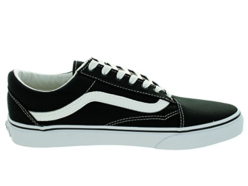 Vans Unisex Old Skool Classic Skate Shoes (canvas) Nero / Bianco Reale