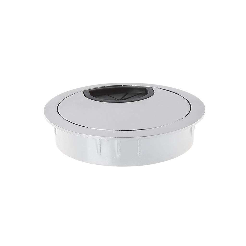 LANDUM Zinc Alloy Wire Hole Cover Desk Cable Grommet Outlet Round Port Holes Box