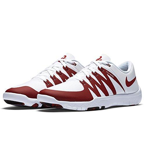 Nike Free Trainer 5.0 V6 Amp Oklahoma Sooners 723939-101 Wit / Crimson Herenschoenen (maat 9.5)