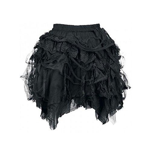 KuroNeko - Short Beggar Skirt schwarz 228013 Gothik Anime Mini kurzer Rock Minirock Black